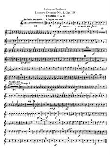 Leonore. Overture No.1, Op.138: trompetas parte I-II by Ludwig van Beethoven