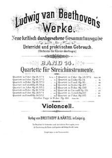 Quartet No.1 in F Major: parte violoncelo by Ludwig van Beethoven