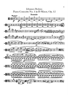 Concerto for Piano and Orchestra No.1 in D Minor, Op.15: parte viola by Johannes Brahms