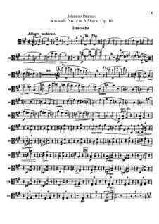 Serenade No.2 in A Major, Op.16: parte viola by Johannes Brahms