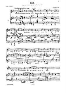 Six Songs, Op.3: No.4 Lied (Song) by Johannes Brahms