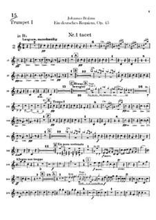 A German Requiem, Op.45: parte trompetas by Johannes Brahms