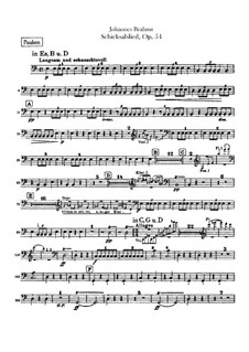 Song of Destiny , Op.54: Peça para Timpano by Johannes Brahms