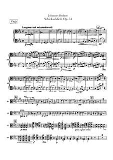 Song of Destiny , Op.54: parte viola by Johannes Brahms