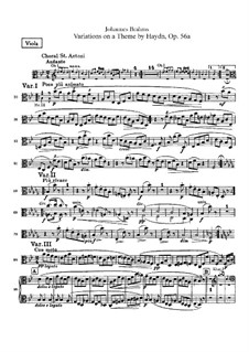 Variations on a Theme by Haydn, Op.56a: parte viola by Johannes Brahms