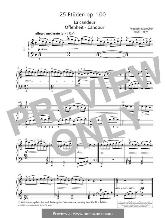 No.1 La Candeur: Para Piano by Johann Friedrich Burgmüller