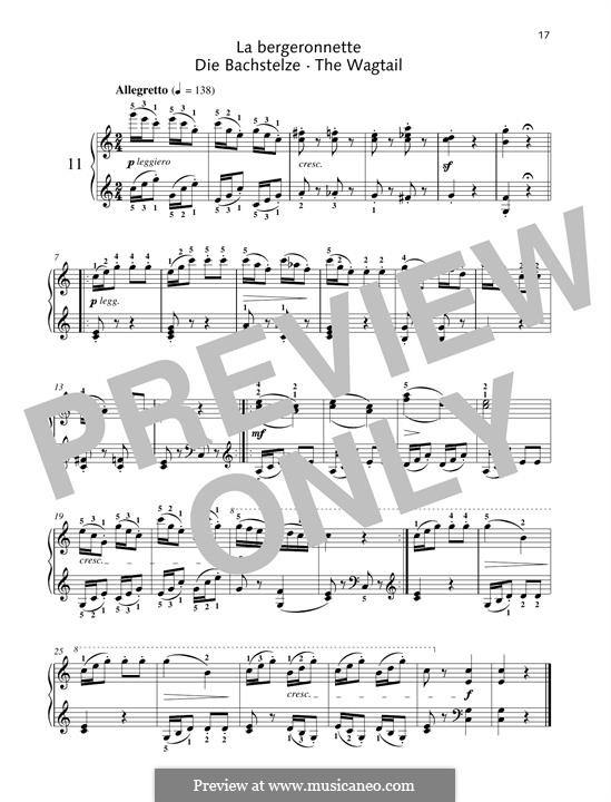 No.11 La Bergeronnette (The Sheperdess): Para Piano by Johann Friedrich Burgmüller