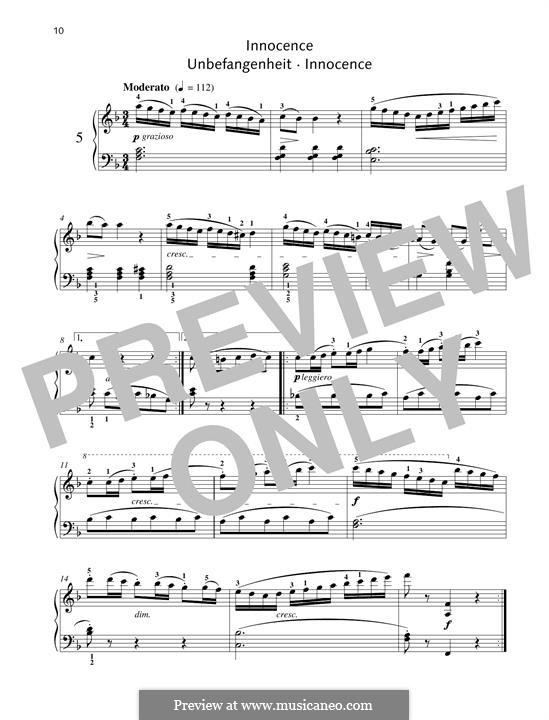 No.5 Innocence: Para Piano by Johann Friedrich Burgmüller