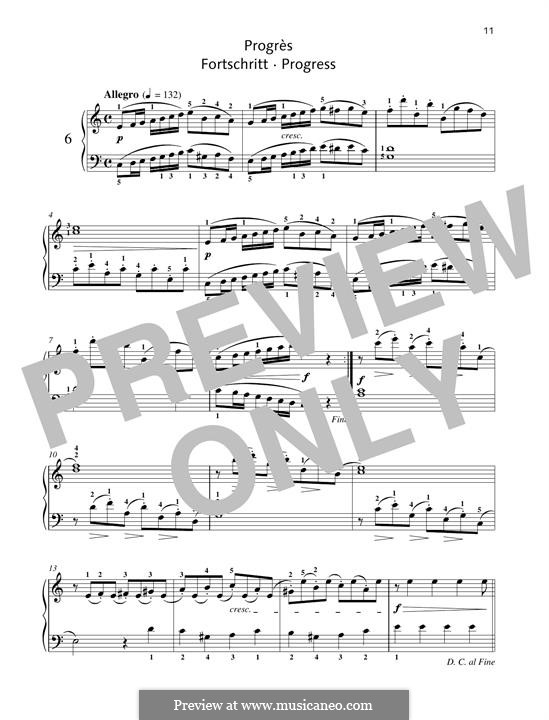 No.6 Progrès (Progress): Para Piano by Johann Friedrich Burgmüller