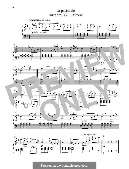 No.3 Pastorale: Para Piano by Johann Friedrich Burgmüller