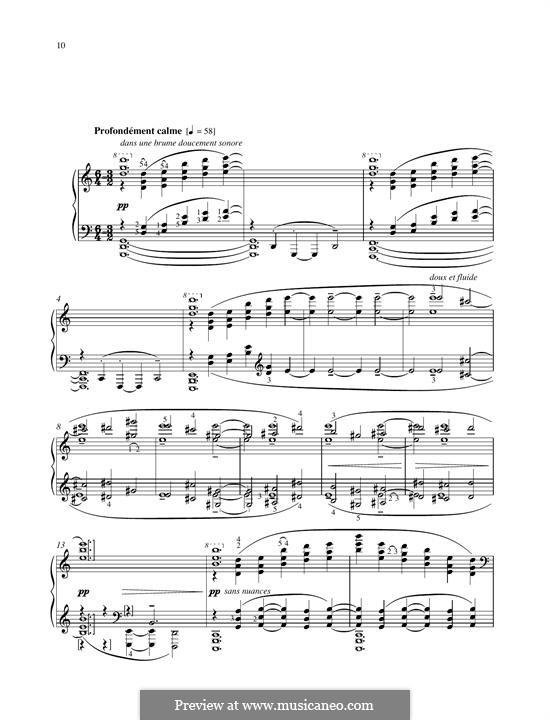 No.10 La cathédrale engloutie: Para Piano by Claude Debussy