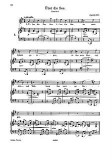 Nine Songs and Ballads, Op.69: No.7 Über die See (Across the Sea) by Johannes Brahms