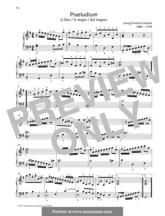 Prelude in G Major: Prelude in G Major by Georg Friedrich Händel