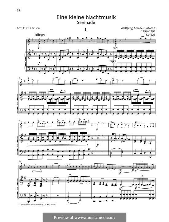 Allegro: para violino by Wolfgang Amadeus Mozart