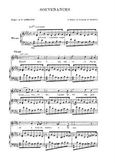 Souvenances: Partitura Piano-vocal by Camille Saint-Saëns