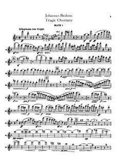 Tragic Overture, Op.81: parte de flautas by Johannes Brahms