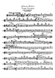 Tragic Overture, Op.81: parte de trombones e tubas by Johannes Brahms