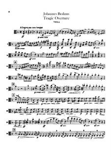 Tragic Overture, Op.81: parte viola by Johannes Brahms