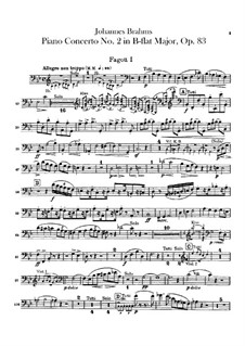Concerto for Piano and Orchestra No.2 in B Flat Major, Op.83: parte fagotes by Johannes Brahms