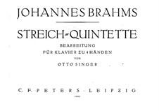 String Quintet No.1 in F Major, Op.88: versão para piano de quatro mãos by Johannes Brahms