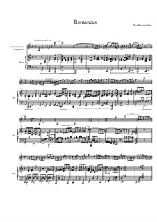 Romances for Piano and Guitarre d'Amore, Op.6: Romance No.1 by Dov Rosenschein
