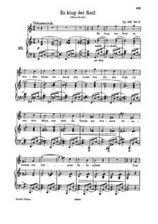 Five Songs, Op.106: No.3 Es hing der Reif (Hoarfrost Hung) by Johannes Brahms