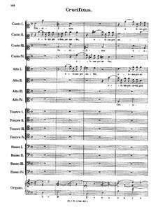 Crucifixus: partitura completa by Antonio Caldara