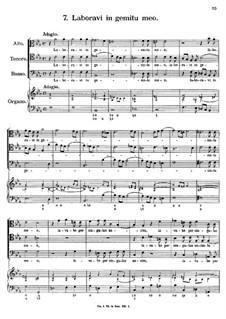 Eight Motets: No.7 Laboravi in gemitu meo by Antonio Caldara