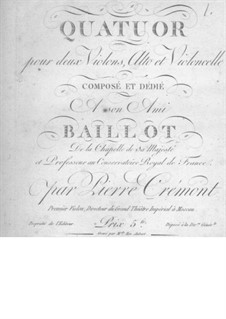 String Quartet in G Major: violino parte I by Pierre Crémont