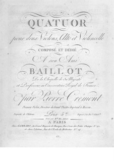 String Quartet in G Major: violino parte II by Pierre Crémont