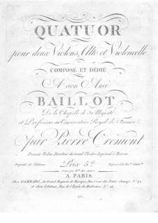 String Quartet in G Major: parte viola by Pierre Crémont