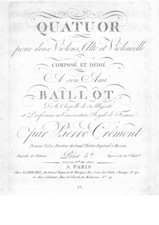String Quartet in G Major: parte violoncelo by Pierre Crémont