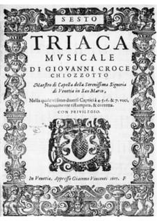 Triaca musicale: Contralto II part by Giovanni Croce
