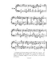 Choix de chorals: Choral No.30 by Johann Sebastian Bach