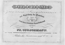 Six Songs, Op.14: seis musicas by Friedrich Curschmann