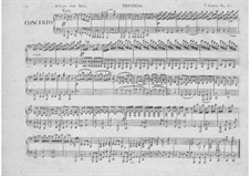 Concerto for Piano Four Hands and Orchestra in C Major, Op.153: parte Solo by Carl Czerny