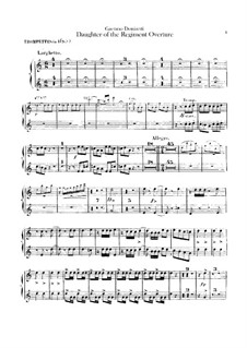 La fille du régiment (The Daughter of the Regiment): Overture – Trumpets part by Gaetano Donizetti