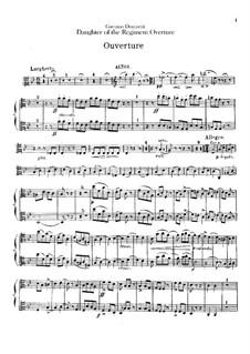 La fille du régiment (The Daughter of the Regiment): Abertura - parte em violas by Gaetano Donizetti