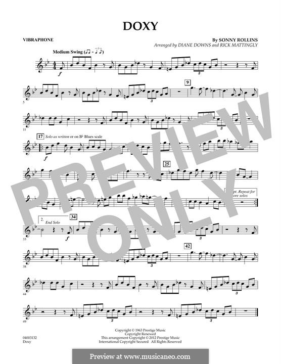Concert Band version: Vibes part by Sonny Rollins