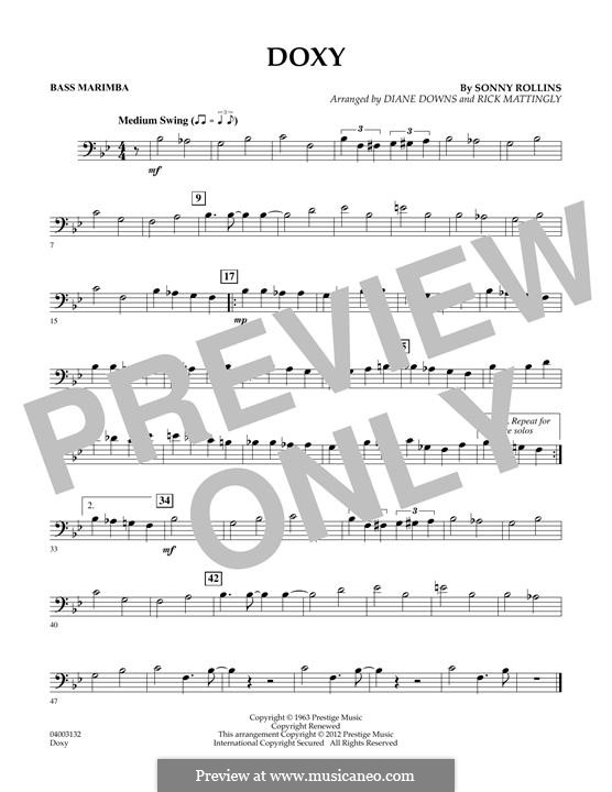 Concert Band version: Bass Marimba part by Sonny Rollins