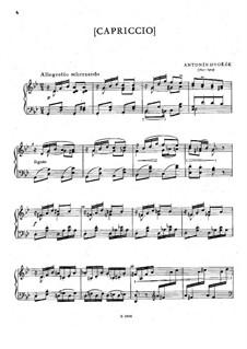 Two Pieces, B.188: No.2 Capriccio by Antonín Dvořák