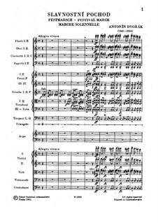 Festival March, B.88: Festival March by Antonín Dvořák