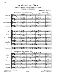 Pražské valčíky (Prague Waltzes), B.99: Pražské valčíky (Prague Waltzes) by Antonín Dvořák