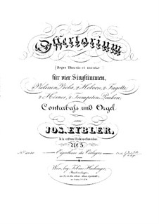 Reges Tharsis et insulae munera, HV 107: Partes by Joseph Eybler