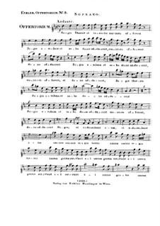 Reges Tharsis et insulae munera, HV 107: parte soprano by Joseph Eybler