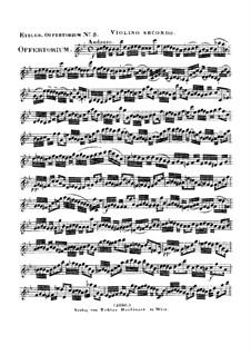 Reges Tharsis et insulae munera, HV 107: violino parte II by Joseph Eybler