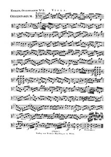 Reges Tharsis et insulae munera, HV 107: parte viola by Joseph Eybler