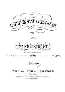 Reges Tharsis et insulae munera, HV 107: partitura completa by Joseph Eybler