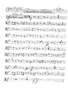 Reges Tharsis et insulae munera, HV 107: parte trombone tenor by Joseph Eybler
