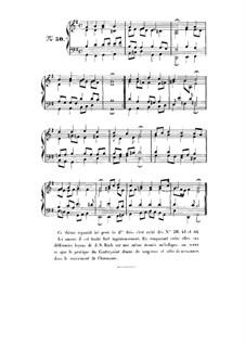 Choix de chorals: Choral No.50 by Johann Sebastian Bach
